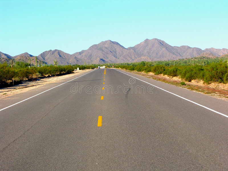 The Middle Road royalty free stock images