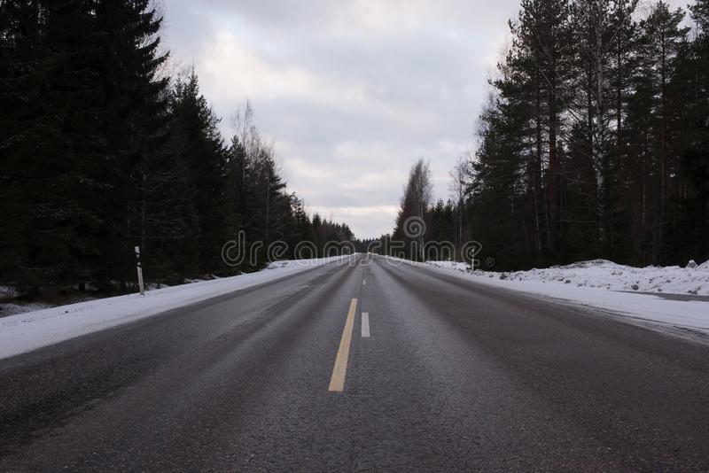 Middle of the road view stock image