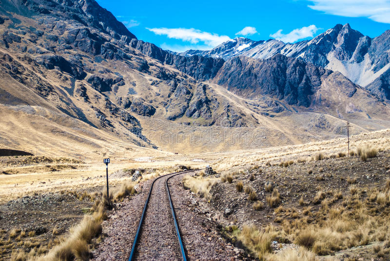 Middle of the Road, on the way to Cusco - Peru royalty free stock photo