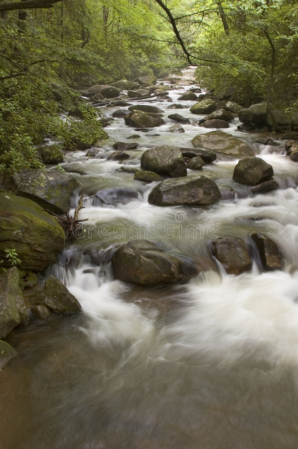 Middle Saluda River. In Jones Gap State Park near Greenville, SC stock photography