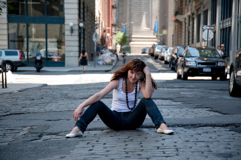 Download In The Middle Of The Street Stock Photo - Image: 25383366
