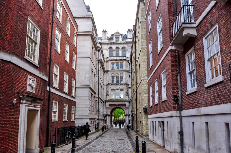 Middle Temple Lane in London, UK royalty free stock photography