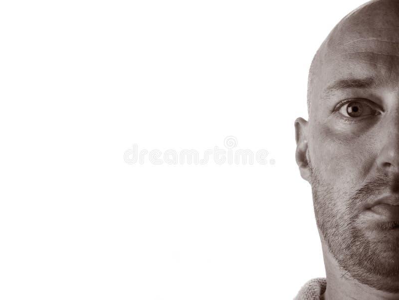 Download Middleaged Man Stubble Bald Stock Photo - Image of balding, bald: 17009986