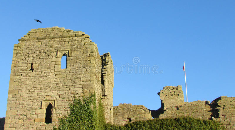 Middleham Castle Ruins royalty free stock photo
