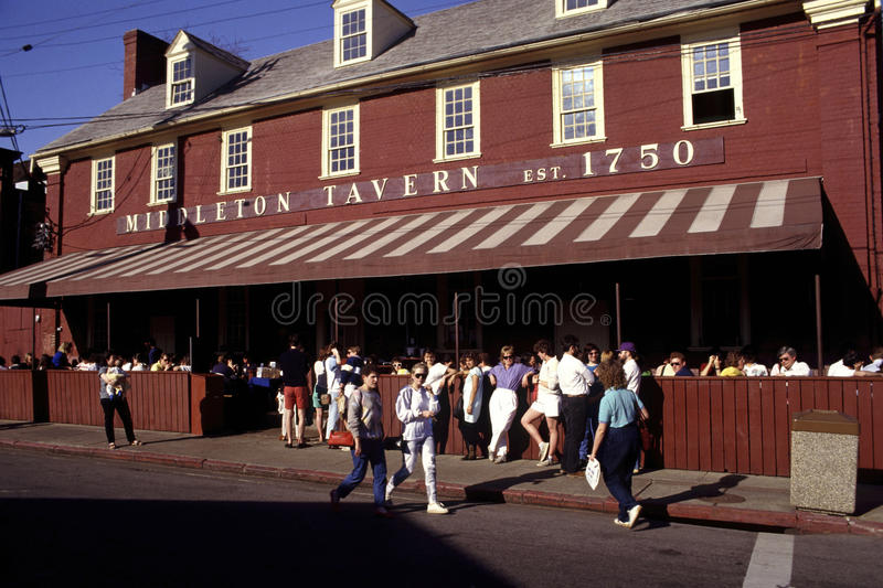 Middletown Tavern in Annapolis Maryland stock photography