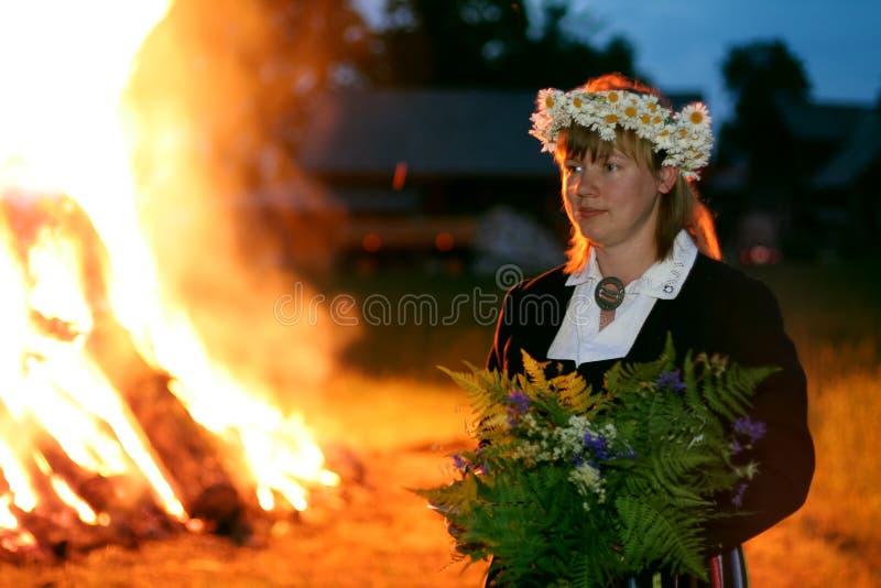 Middsummer day. Celebration of middsummer day of Ligo in Latvia, Baltic states royalty free stock image