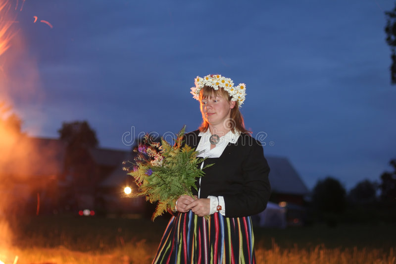 Middsummer day. Celebration of middsummer day of Ligo in Latvia, Baltic states royalty free stock photos