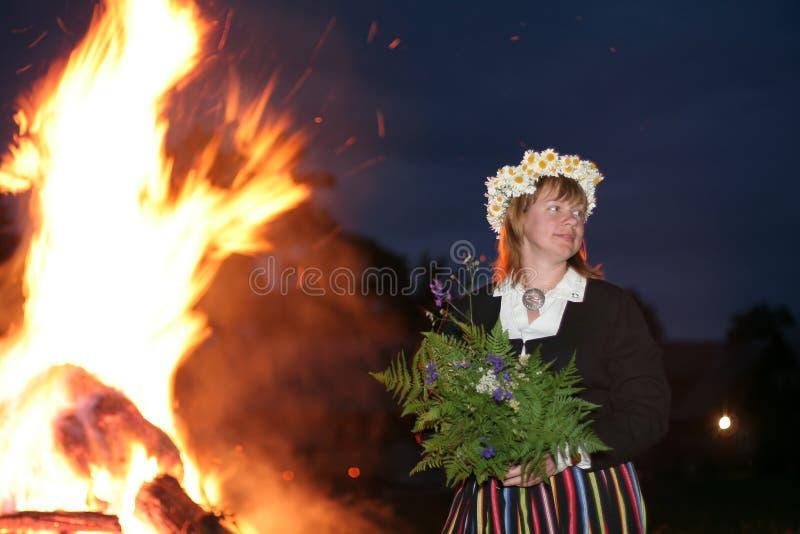 Middsummer day. Celebration of middsummer day of Ligo in Latvia, Baltic states stock images