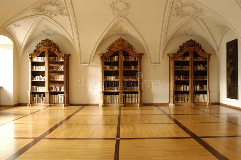 Mideval Bibliothek stockbilder