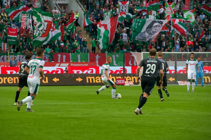 Midfielder Dmitry BARINOV 6 no jogo de futebol foto de stock