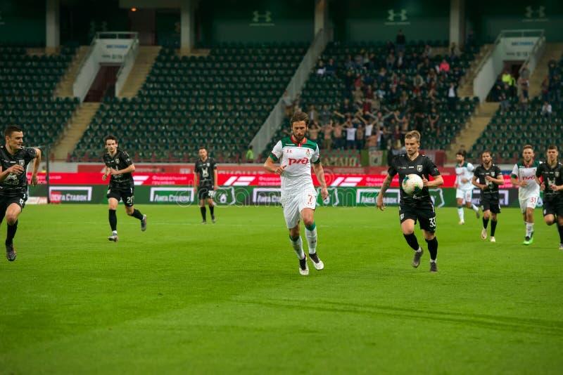 Midfielder Grzegorz KRYHOVIAK 7 sobre o jogo de futebol foto de stock