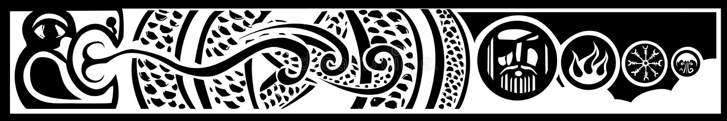 Midgard orm stock illustrationer
