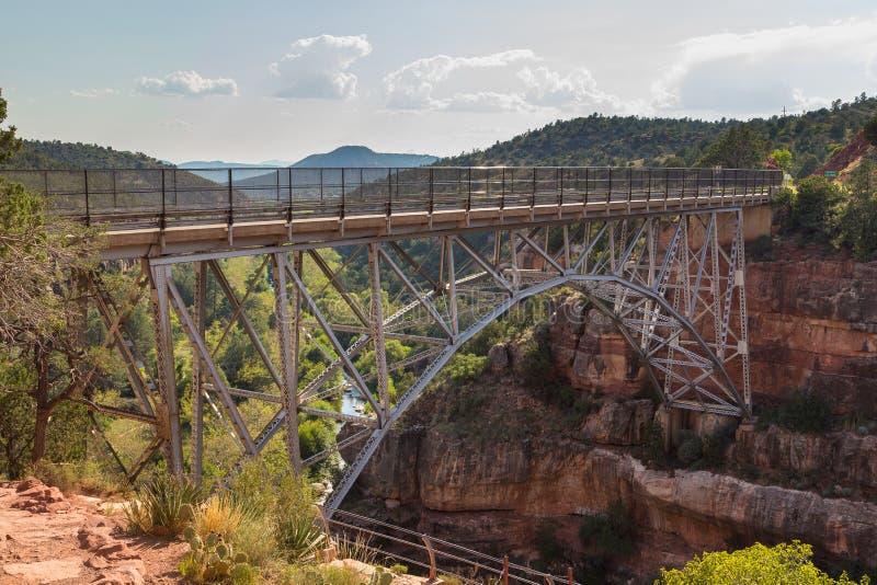Midgley桥梁的看法在威尔逊峡谷的 库存照片