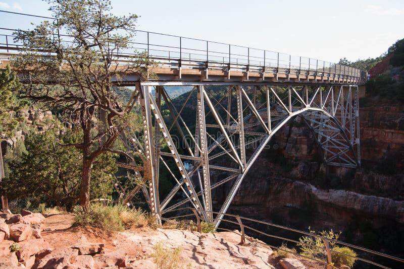 Midgley桥梁Sedona,亚利桑那 库存图片