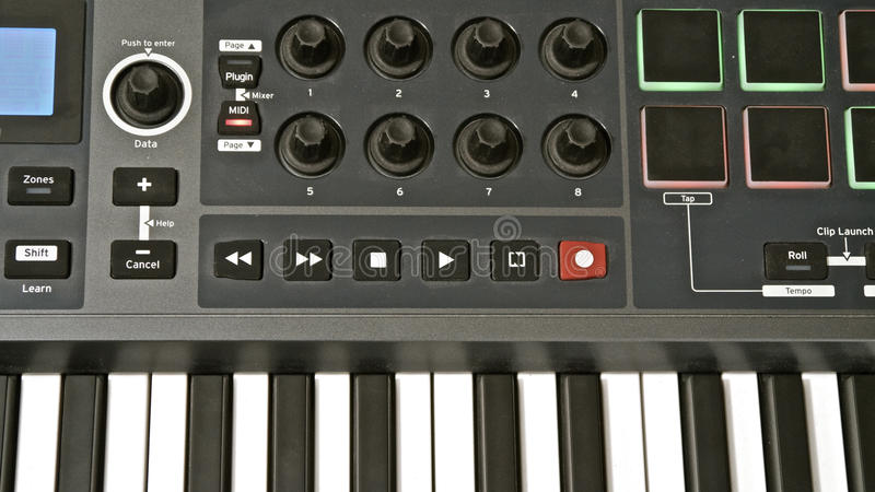 MIDI Keyboard stock images