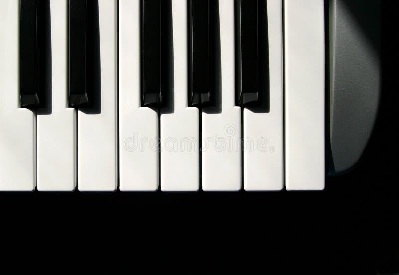 MIDI Keys. Keyboard keys from a MIDI player stock photos