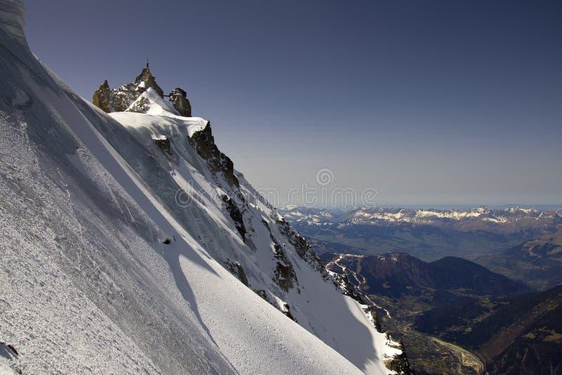 Midi w Francja Alps, Chamonix fotografia stock
