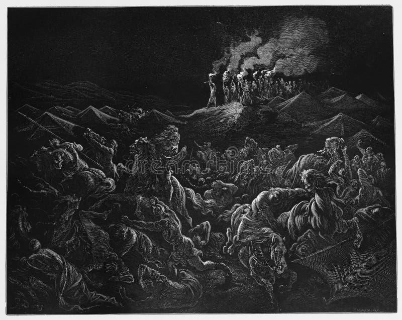 Midianites wordt verpletterd vector illustratie