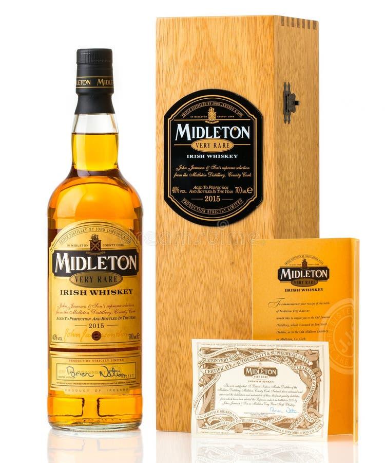 Midleton非常罕见的爱尔兰威士忌酒 免版税库存照片