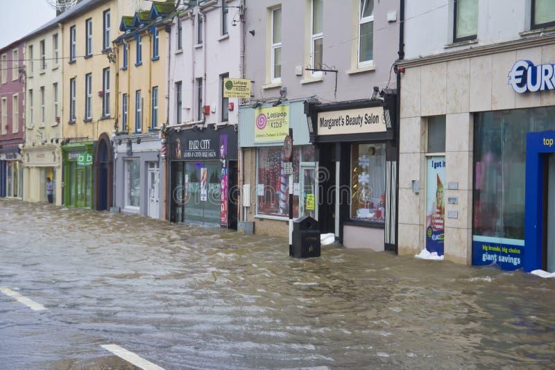 Midleton Co Cork Flooded fotografie stock
