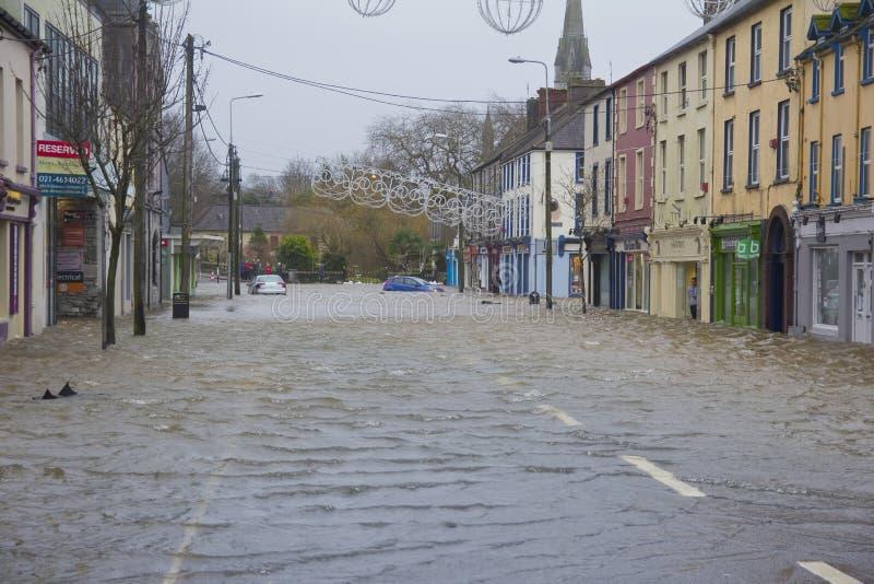 Midleton Co Cork Flooded fotos de archivo libres de regalías