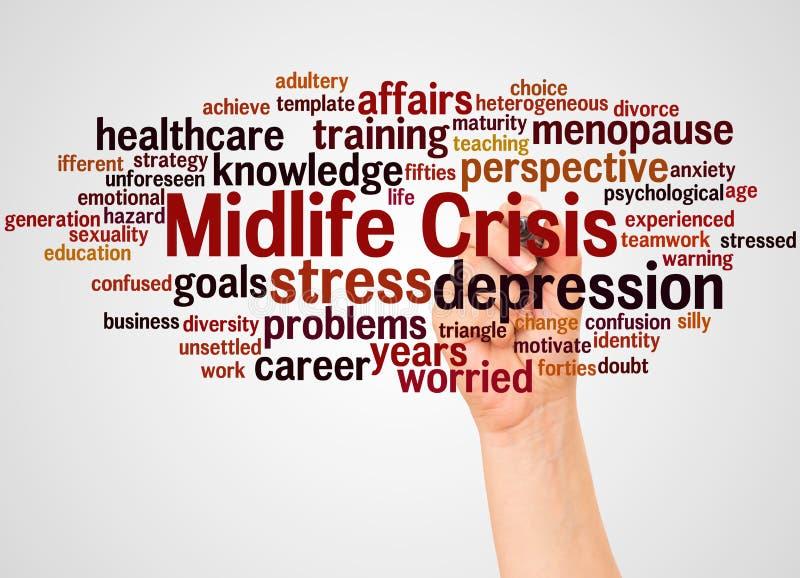 Midlife crisis stock illustration  Illustration of confused