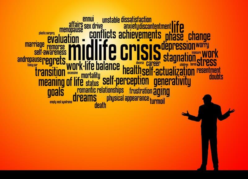 Midlife depression royalty free illustration