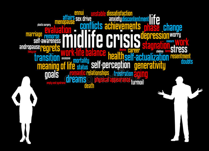 Midlife kryzys ilustracja wektor
