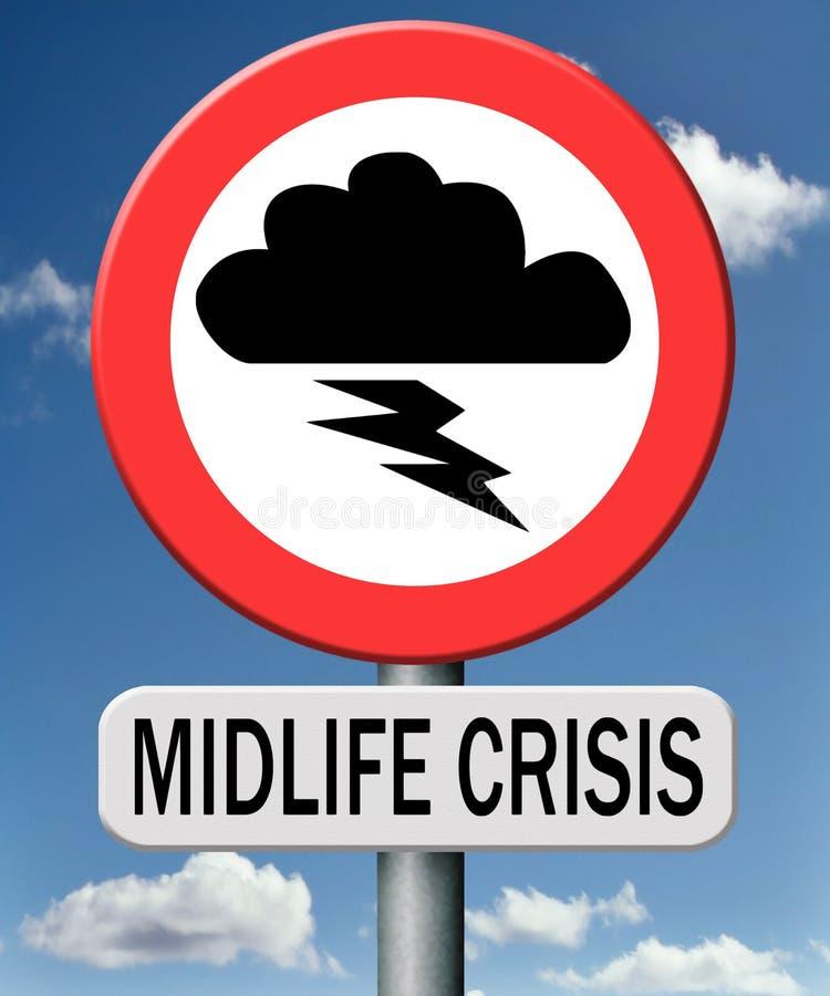 Midlife kryzysu umysłowa depresja obraz royalty free