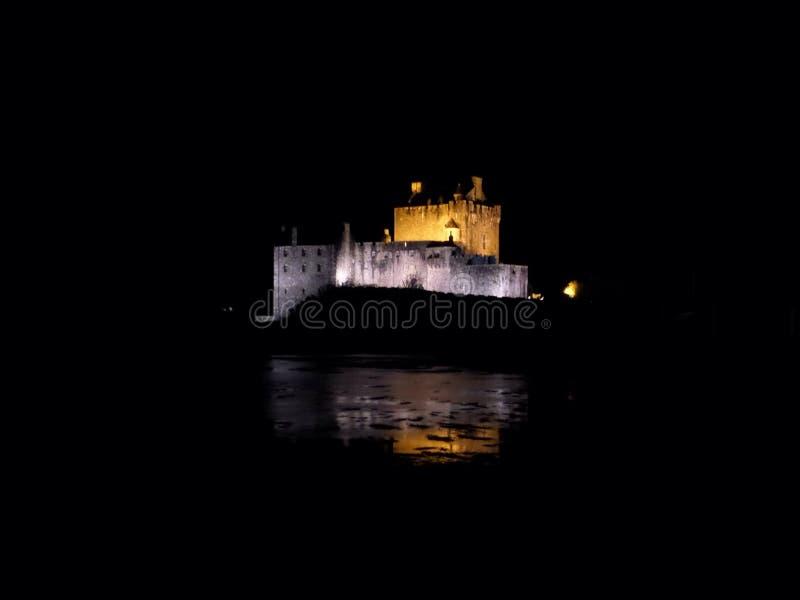 Midnatt fästning royaltyfri bild