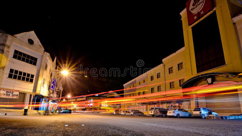 Midnatt i Temerloh royaltyfri bild