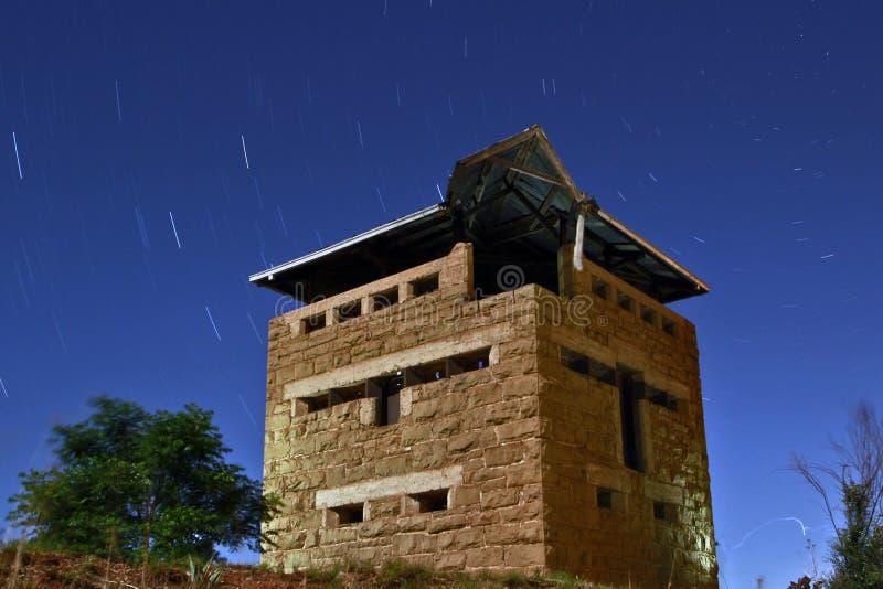 Midnight Blockhouse stock photo