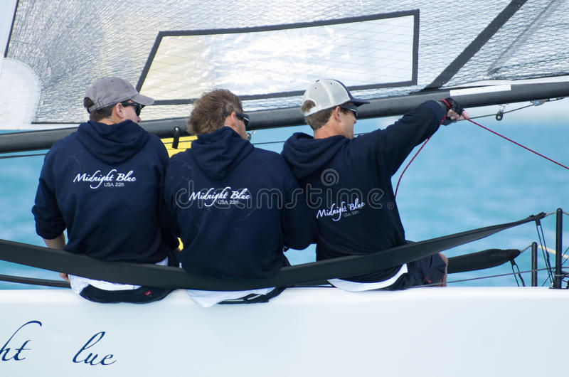 Midnight Blue finishes 5th out of 52 at the Melges 20 World Championships royalty free stock images