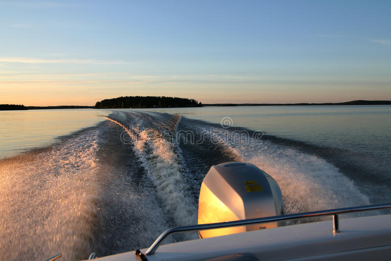Download Midnight boat ride stock image. Image of ride, view, sweden - 21866751