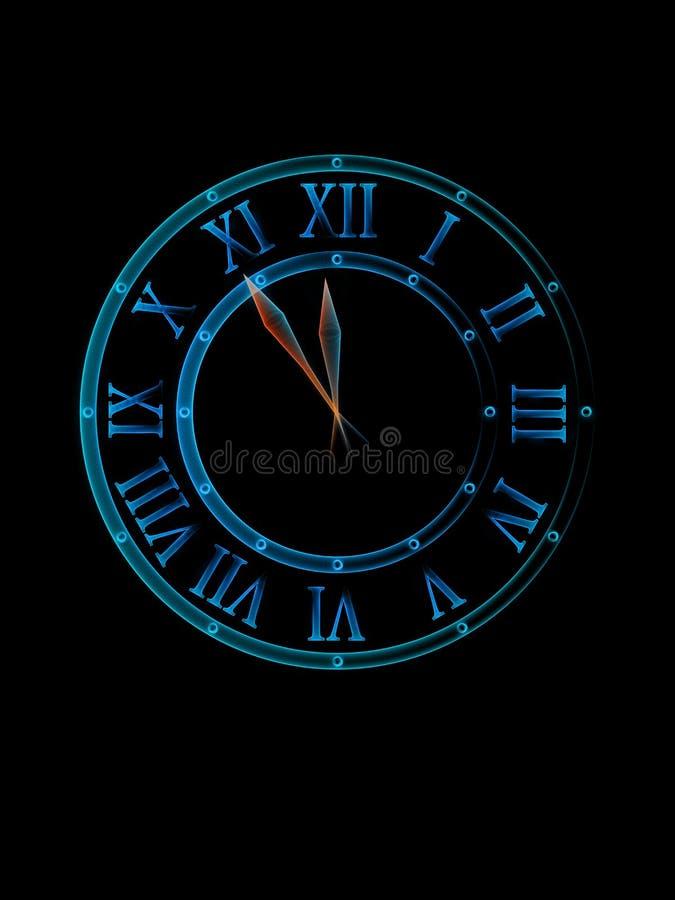 Download Midnight clock stock illustration. Illustration of near - 14537259