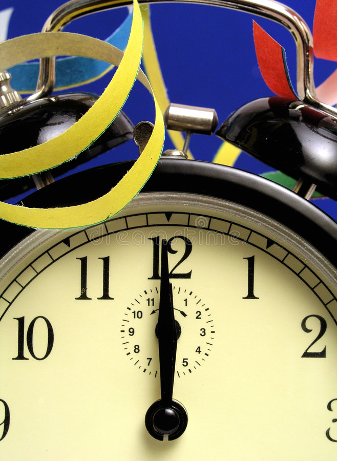 Midnight clock stock image