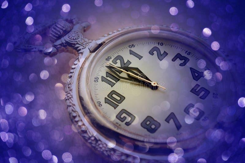 Midnight countdown clock stock image