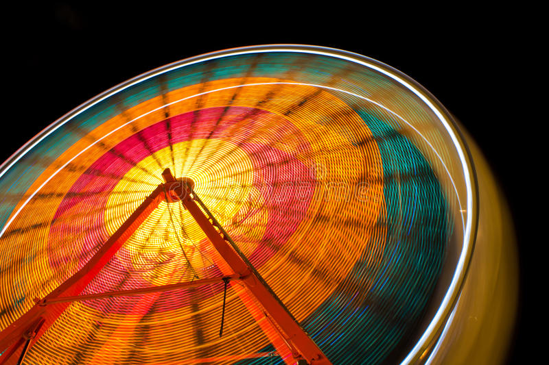 Midnight Ferris Wheel royalty free stock images