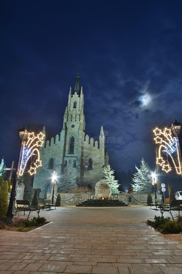 Midnight kościół obraz royalty free