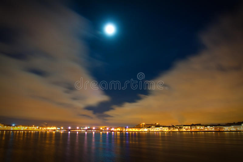 Download Midnight Landscape Of The City Stock Illustration - Image: 23397100