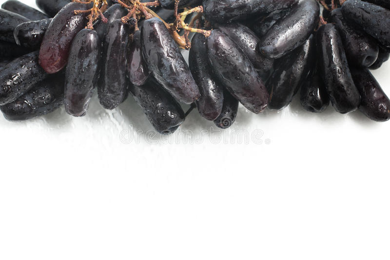 Midnight Long Black Grapes royalty free stock image