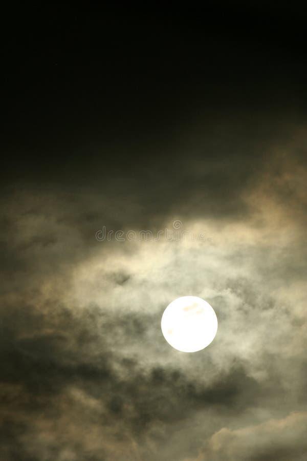 midnight moon arkivbilder
