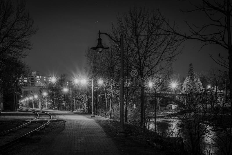 Midnight przespacerowanie fotografia stock