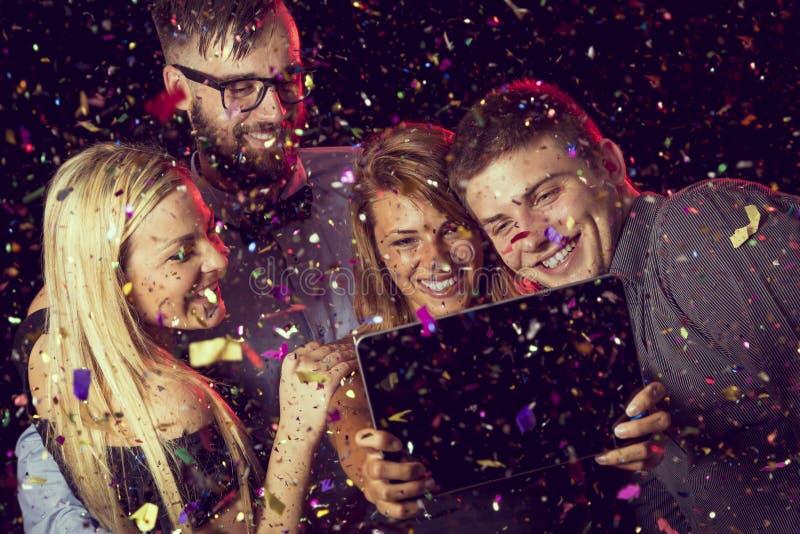 Midnight selfie royalty free stock image