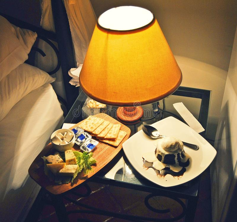 Midnight snacks `n delights! stock photo