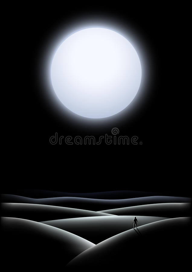 Midnight sun vector illustration