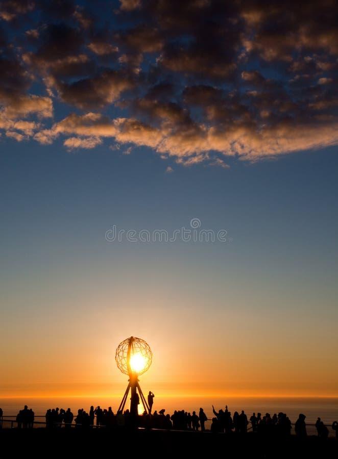 Midnight sun. Taken on North Cape royalty free stock image