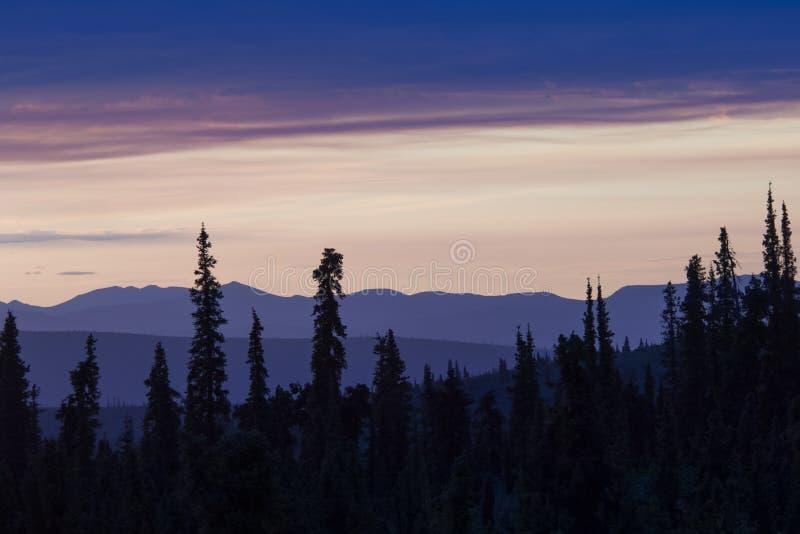 Midnight sun stock image