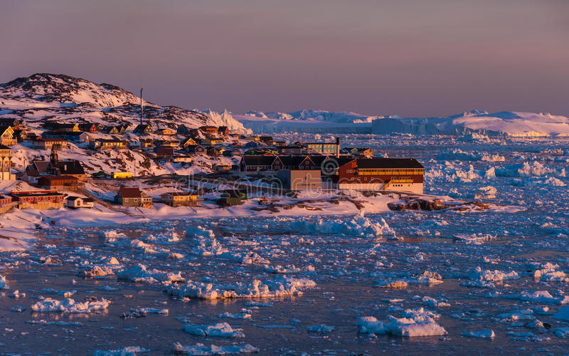 Midnight Sun - Greenland royalty free stock images