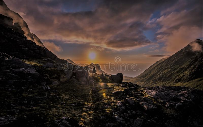 Midnight sun stock images